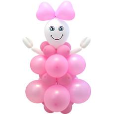 Knutselset Ballonfiguur Geboorte Meisje