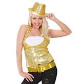 Glamour Riem Glitter Goud 120cm