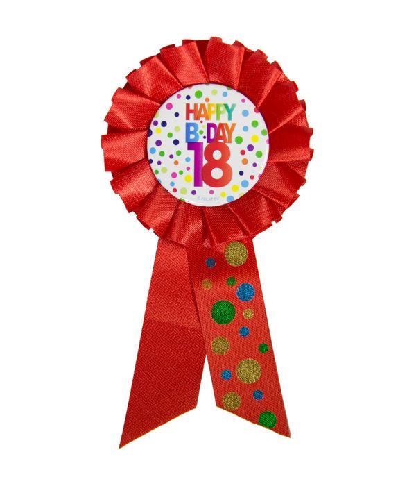 18 Jaar Happy Birthday Stippen Rozet
