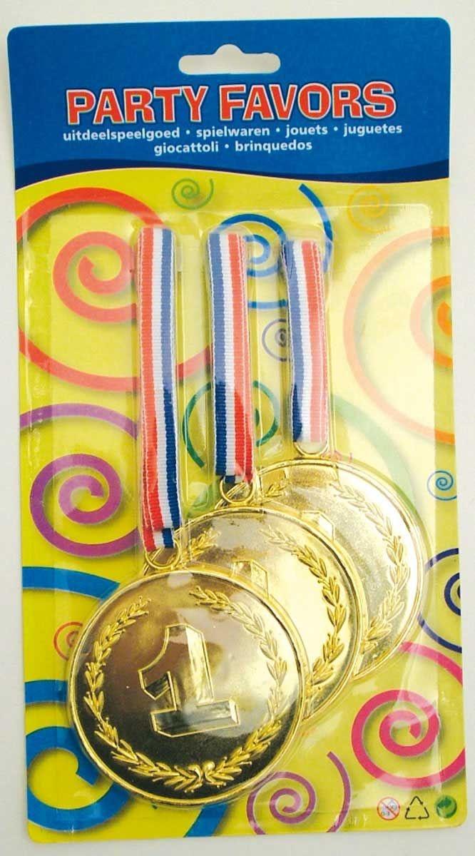 Gouden XL medailles - 3 stuks