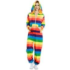 Rainbow jumpsuit met capuchon
