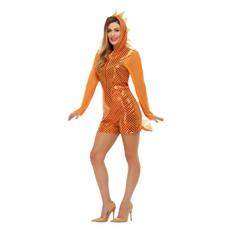 Drakenpakje vrouw oranje