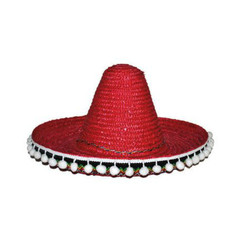Mexicaanse sombrero kind rood