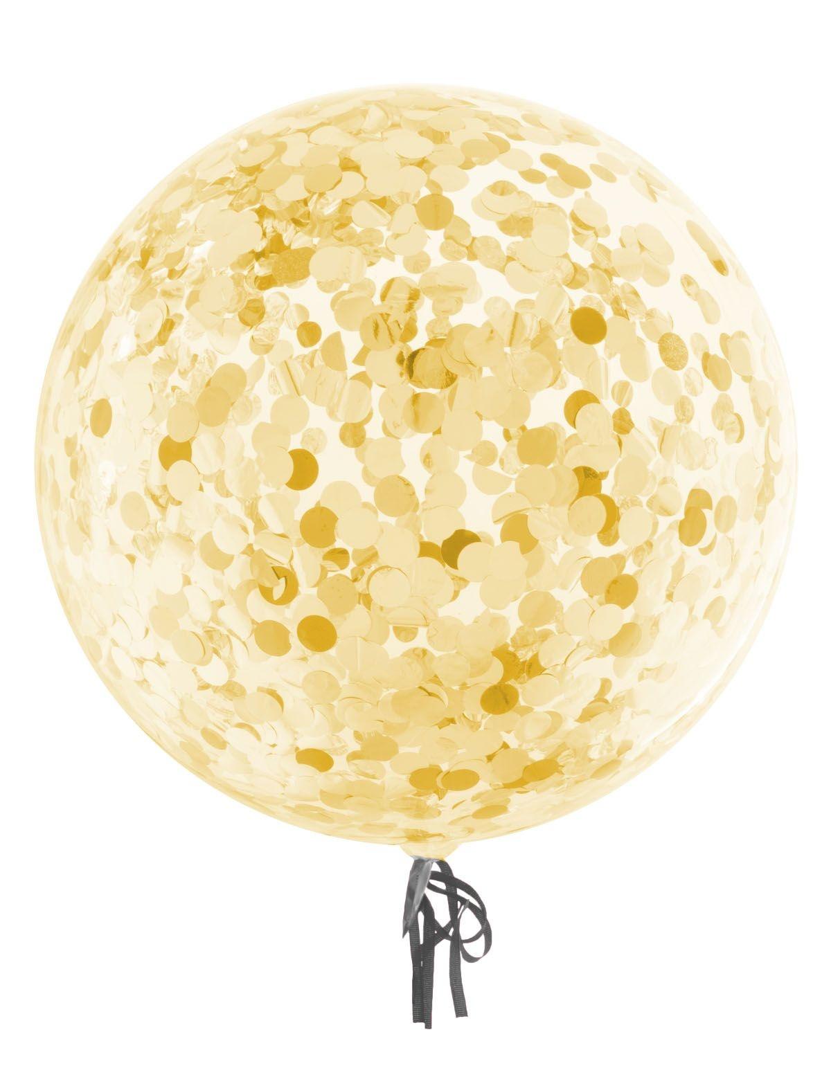 Bubbel ballon met gouden confetti