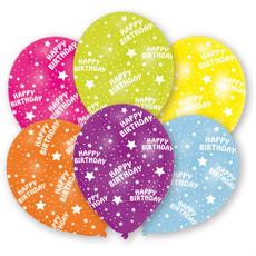 Happy Birthday Ballonnen Kleurenmix - 6 Stuks