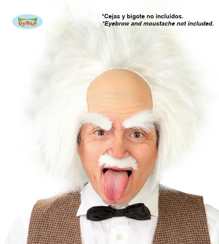 Einstein Pruik Met Kaal Voorhoofd
