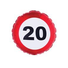 Folieballon verkeersbord 20 jaar