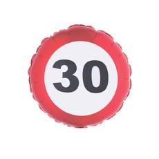 Folieballon verkeersbord 30 jaar