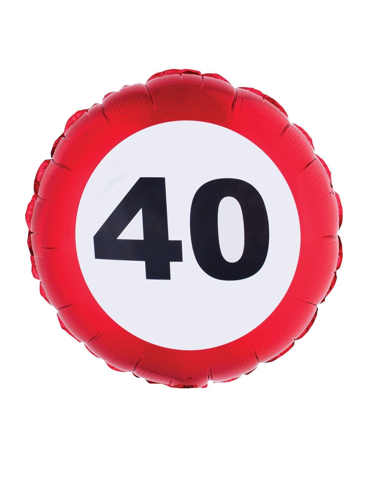 Folieballon verkeersbord 40 jaar
