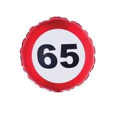 Folieballon verkeersbord 65 jaar