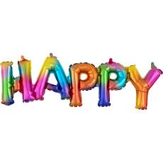 Folieballon 'Happy' Regenboog