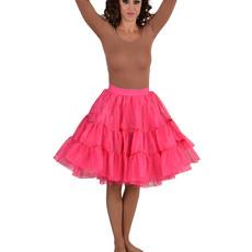 Petticoat middel lang roze luxe