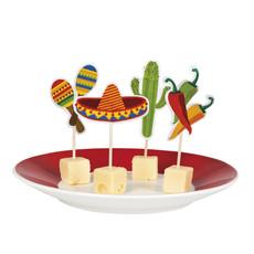Mexicaanse cocktailprikkers - 12 stuks
