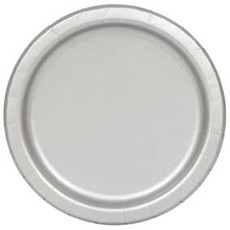 Bordjes Zilver 12 Stuks - 18 cm