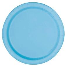 Bordjes Lichtblauw 12 Stuks - 18 cm