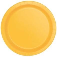 Bordjes Geel 12 Stuks - 18 cm