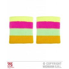 Polsbanden neon meerkleurig