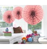 Baby roze Honeycomb Waaier - 45cm