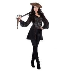 Piratenpak Dames Zwart Luxe