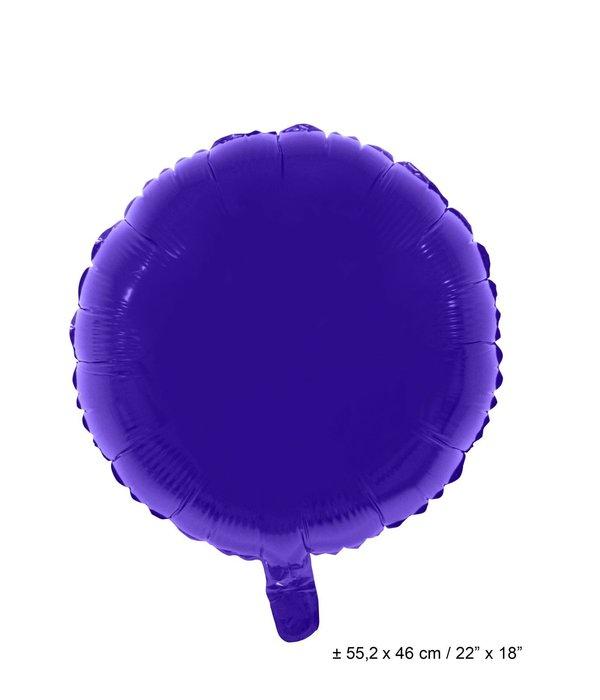 Folieballon Rond Paars - 46cm