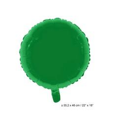 Folieballon Rond Groen - 46cm