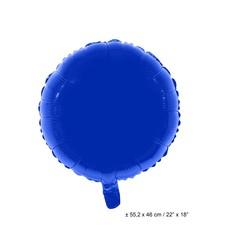 Folieballon Rond Blauw - 46cm