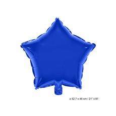Folieballon Ster Donkerblauw - 46cm