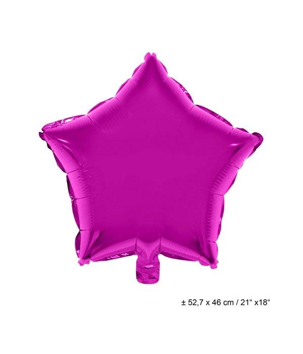 Folieballon Ster Fuchsia - 46cm