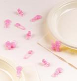 Baby Geboorte Tafeldecoratie Roze - 25 stuks
