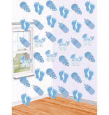 Hangdecoratie Geboorte Baby Blauw - 6 Stuks