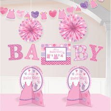 Decoratieset Babyshower It's A Girl - 10-Delig