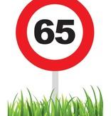 Verkeersbord 65 jaar tuin 36cm