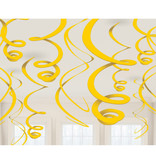 12 swirls decoraties geel