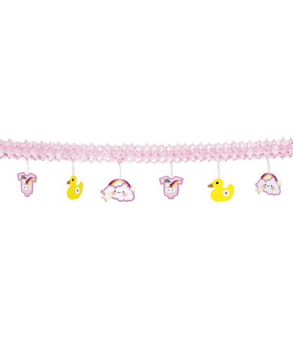 Roze Geboorteslinger Meisje - 4 Meter