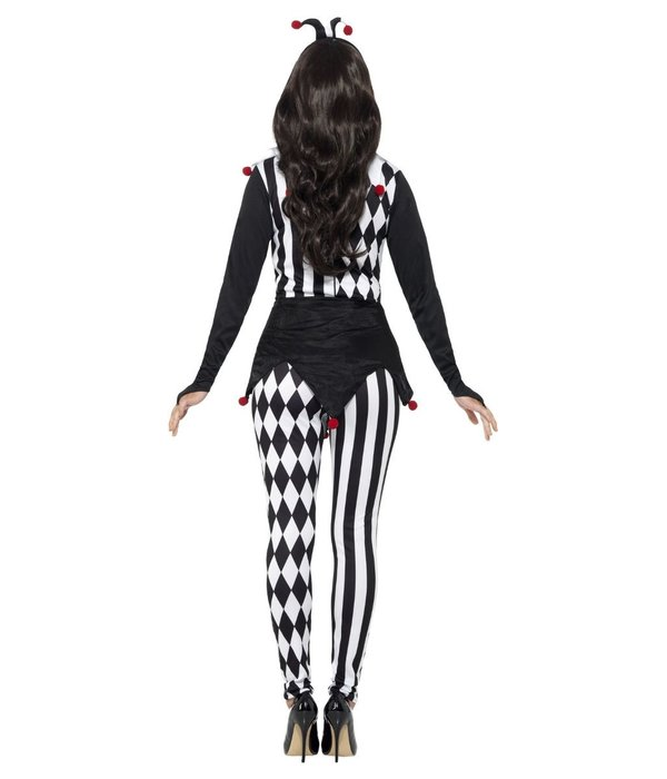 Vrouwelijke Pierrot kostuum Halloween