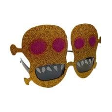 Funbril doodskop ogen paars