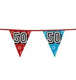 Holografische vlaggenlijn '50' (8 m)