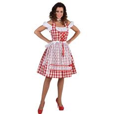 Dirndl Nina Knielang rood/wit