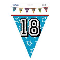 Holografische vlaggenlijn '18' (8 m)