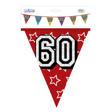 Holografische vlaggenlijn 60 jaar (8 m)