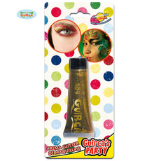 Glitter make up tube goud creme