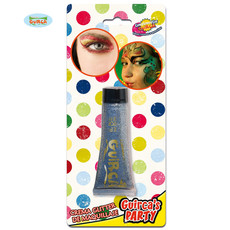 Glitter make up tube zilver creme