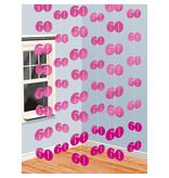 6 Decoratie Stringen Pink Shimmer 60