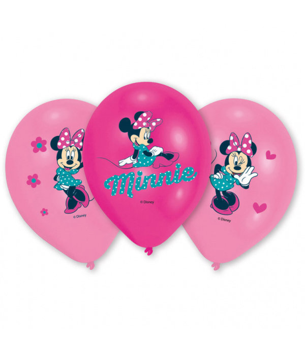 6 Minnie Mouse™ ballonnen 27cm