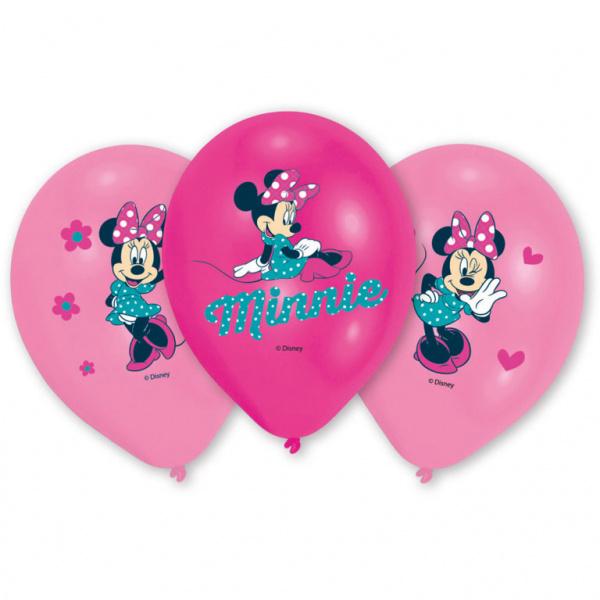 Amscan ballonnen Minnie Mouse 27,5 cm roze 6 stuks online kopen