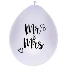 Ballonnen Mr & Mrs 30cm (6st)