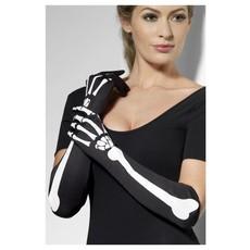 Skeletten handschoenen lang