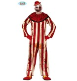 Gestreepte Killer Clown Jumpsuit