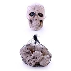 Skelethoofden 12 stuks in netje