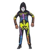 Multi neon skelettenpak kind